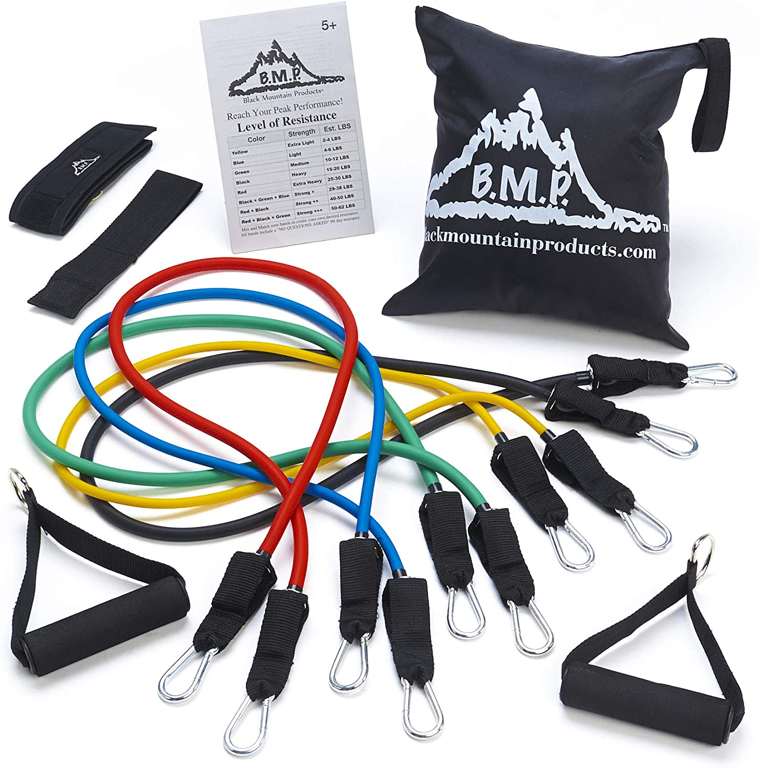 Black Mountain Products Stackable Resistance Band Set
