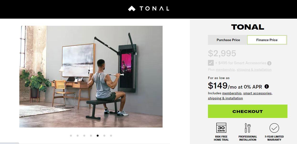 tonal gym price